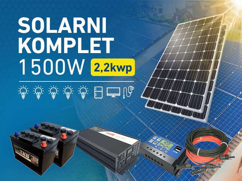 Komplet solarne elektrane 1500W