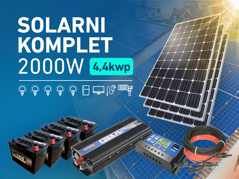 Komplet solarne elektrane 2000W