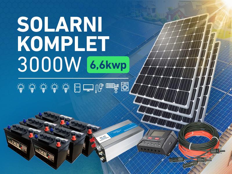 Komplet solarne elektrane 3000W